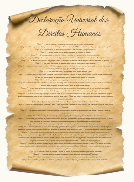 Artigos da Declaração Universal dos Direitos Humanos.