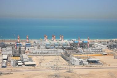 Usina de Dessalinização, localizada em Dubai