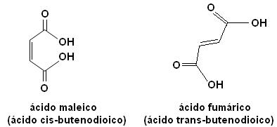 acido maleico e fumarico - Isomeria Plana e Espacial - Quais as diferenças e como cai no ENEM?