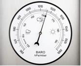 O barômetro é usado para medir a pressão atmosférica