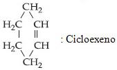 Nomenclatura e estrutura de cicloexeno