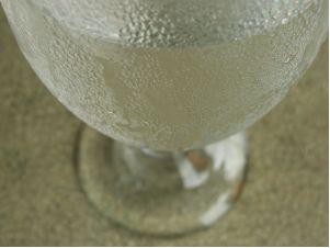 Condensação de água em copo
