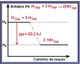Variao da entalpia em reaes exotrmicas e endotrmicas alunos esquema de um diagrama de variao de entalpia na sntese da amnia ccuart Gallery