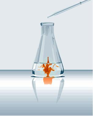 Formação de precipitado de iodo em reação de oxirredução entre água de cloro e iodeto de potássio