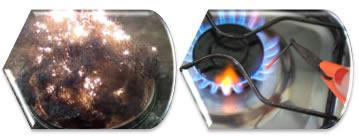 A palha de aço queima mais rápido que o prego porque ela possui maior superfície de contato