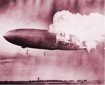 Em 1937 o zeppeling Hindemburg explodiu porque suas câmaras de gás continham gás hidrogênio