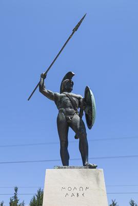 Leônidas, um dos heróis militares de Esparta – cidade que enfrentou Atenas na Guerra do Peloponeso