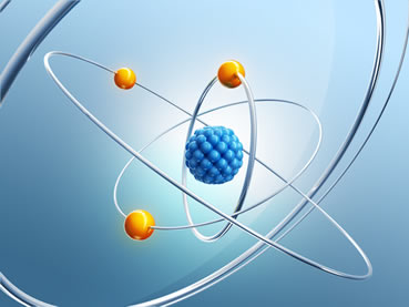 As principais partículas atômicas são os prótons, os nêutrons e os elétrons