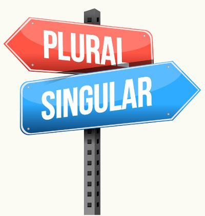Singular e plural são as duas formas de flexão de número