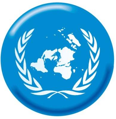 Bandeira da ONU, uma das principais organizações internacionais