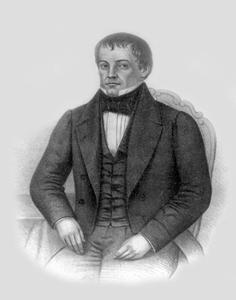 Diogo Feijó foi um dos principais políticos do Período Regencial. Aqui em retrato de S. A. Sisson (1824-1893). *