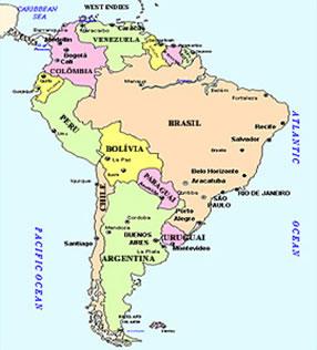 O Brasil ocupa grande parte da América do Sul