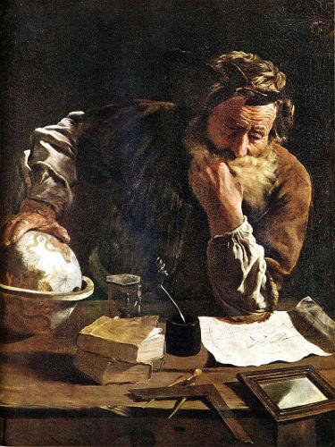 Arquimedes descobriu o empuxo, uma força que atua sobre objetos mergulhados em fluidos