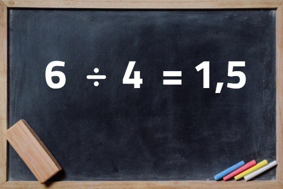 A divisão é uma das quatro operações matemáticas básicas