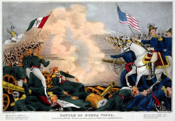 A Guerra Mexicano-Americana foi travada entre 1846 e 1848 por questões territoriais e foi um dos acontecimentos marcantes da história americana.*