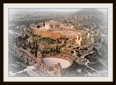 Ruínas históricas da cidade-estado de Atenas, na Grécia