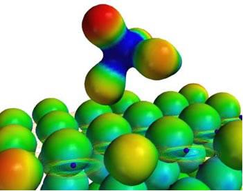 A polaridade das ligações covalentes é normalmente representada visualmente por nuvens eletrônicas.
