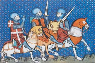 Guerreiros medievais na manifestação literária do período.