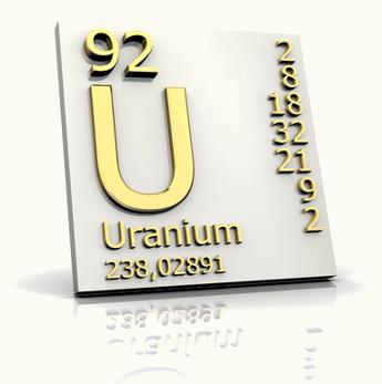 Símbolo do Urânio, um dos pais radioativos