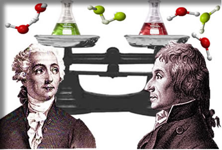 Lavoisier e Proust foram os cientistas que criaram as principais leis ponderais