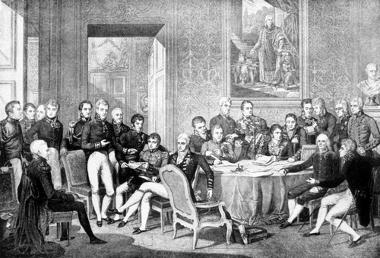 Líderes europeus reunidos em Viena, Áustria, após o período das Guerra Napoleônicas