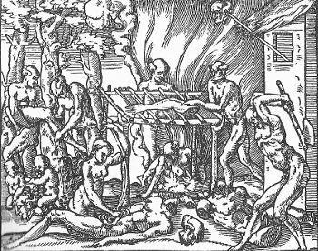 O ritual de canibalismo retratado