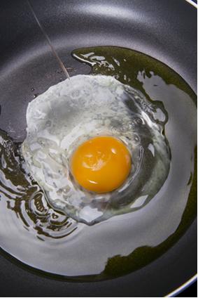 Fritando ovo – uma transformação química da matéria