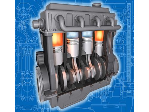 Motor a combustão interna utilizado em veículos automotivos