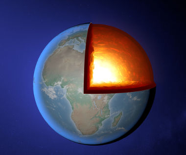 O manto terrestre é a maior entre as camadas do planeta