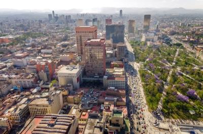 Vista aérea da Cidade do México, uma das maiores regiões metropolitanas do mundo