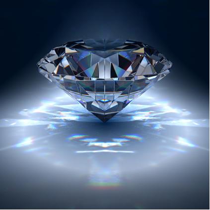 O diamante é a pedra mais dura que existe na natureza
