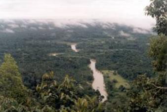 Rio Moa, na Serra do Divisor