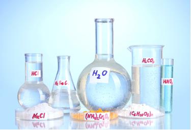 Na imagem, vemos várias substâncias que pertencem a funções inorgânicas diferentes