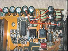 Capacitores em um circuito elétrico