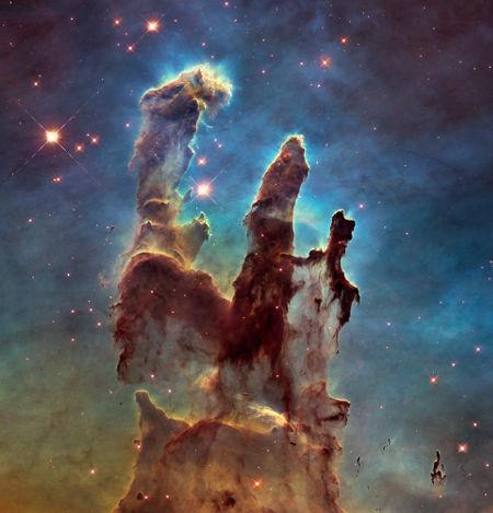 A Nebulosa de Águia é conhecida como um berçário estelar, recheada de protoestrelas – estrelas em estágio inicial de formação