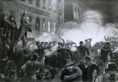 A revolta de Haymarket, ocorrida em Chicago, nos EUA, em 1886, foi um dos marcos para a instituição do Dia do Trabalho