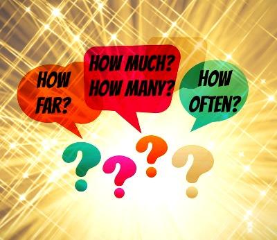 """Usamos algumas expressões, como """"often"""" e """"far"""", com a palavra """"how"""" para elaborar perguntas específicas em inglês"""