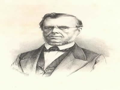 Visconde de Itaboraí, um dos líderes dos saquaremas, em pintura de Augusto Off (1838-1883)