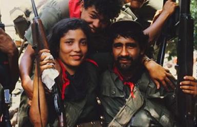 Grupo de revolucionários participante da Revolução Sandinista de 1979.
