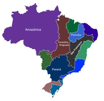 Principais bacias hidrográficas brasileiras