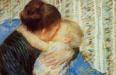 Lembradas em versos e melodias, as mães também foram retratadas nas artes plásticas: Mãe e filho, tela da pintora americana Mary Cassat
