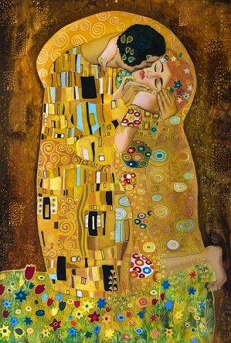 O Beijo, quadro de 1908 do pintor austríaco Gustav Klimt, é a obra artística mais famosa que retrata o ato.