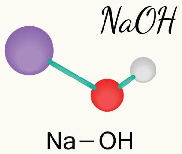 O hidróxido de sódio é um exemplo de base forte