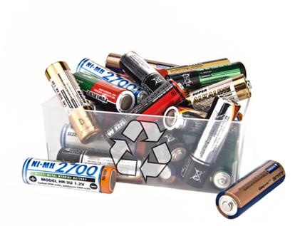 As pilhas devem receber um descarte diferente do lixo comum, visando sua reciclagem