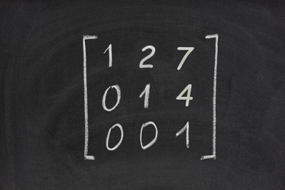 Você sabe como classificar essa matriz? Ela é chamada de triangular superior