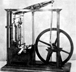 Máquina a vapor construída por Watt.