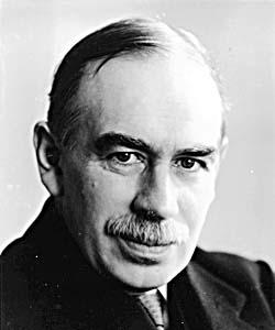 """John Keynes, autor de """"Teoria geral do emprego, dos juros e da moeda"""", livro que mudou a história da economia."""