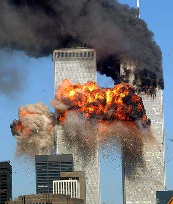 O ataque de 11 de setembro, que marcou a era contemporânea.