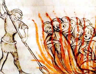 As heresias medievais foram combatidas pelos representantes da Igreja.