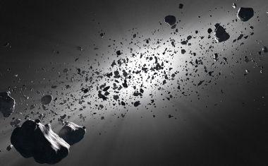 Os asteroides são corpos rochosos de tamanhos diversos que orbitam ao redor do Sol
